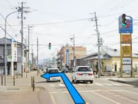 西新発田駅より
